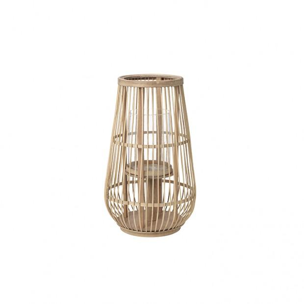 """Broste Copenhagen Windlicht """"Cait"""" Bamboe Hoog windlicht Cait hoog"""