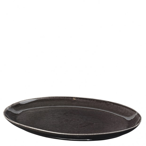 """Broste Copenhagen Ovale Schaal """"Nordic Coal"""" 14533093"""
