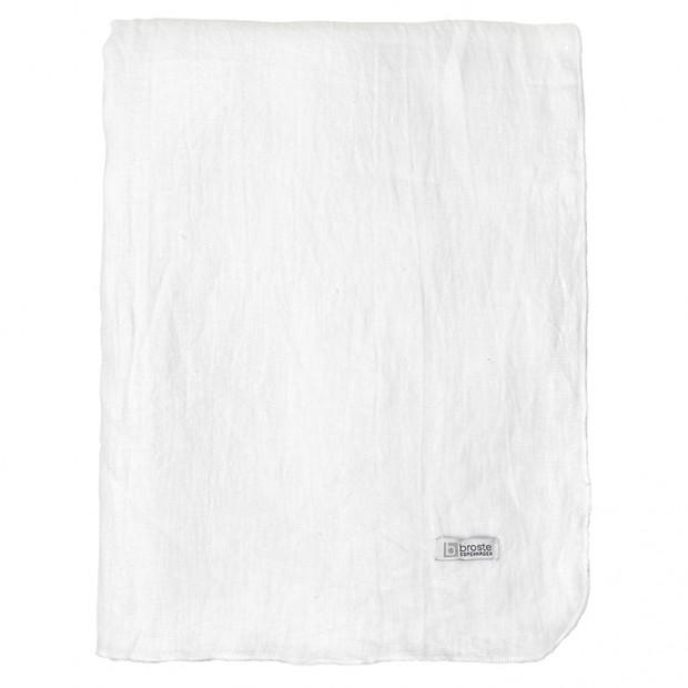 "Broste Tafelkleed Eco Linnen ""Gracie"" Pure White 70100220"