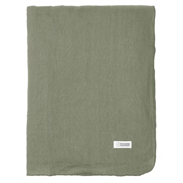 "Broste Tafelkleed Linnen Eco ""Gracie"" Tijm Groen 71172095"