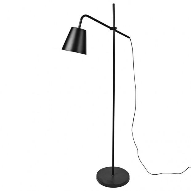 Zwarte metalen vloerlamp Vippe  14461415