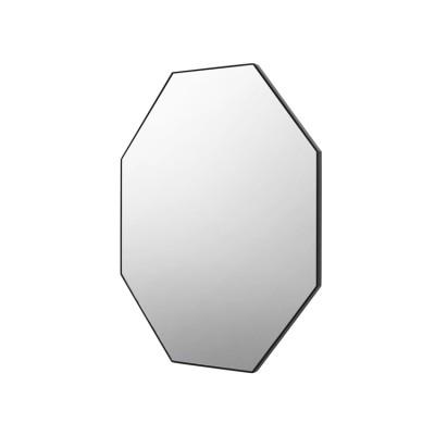"""8 Hoekige Spiegel Zwart """"Corner"""""""
