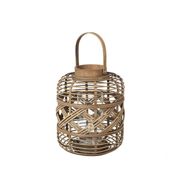 Bamboe Windlicht Cross 14591000