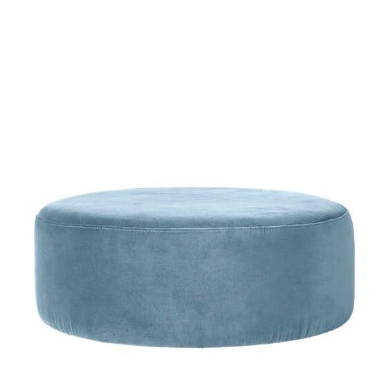 """Ronde Poef Groot """"Wind"""" Pastel Blue 31000093"""