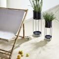 """Strandstoel Tweepersoons """"Relax"""" Bamboe Zwart 14420244"""