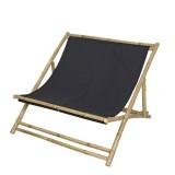 """Strandstoel Tweepersoons """"Relax"""" Bamboe Zwart"""
