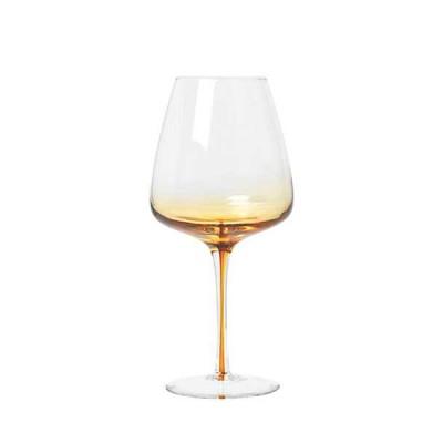 Rode Wijnglazen Amber Glas