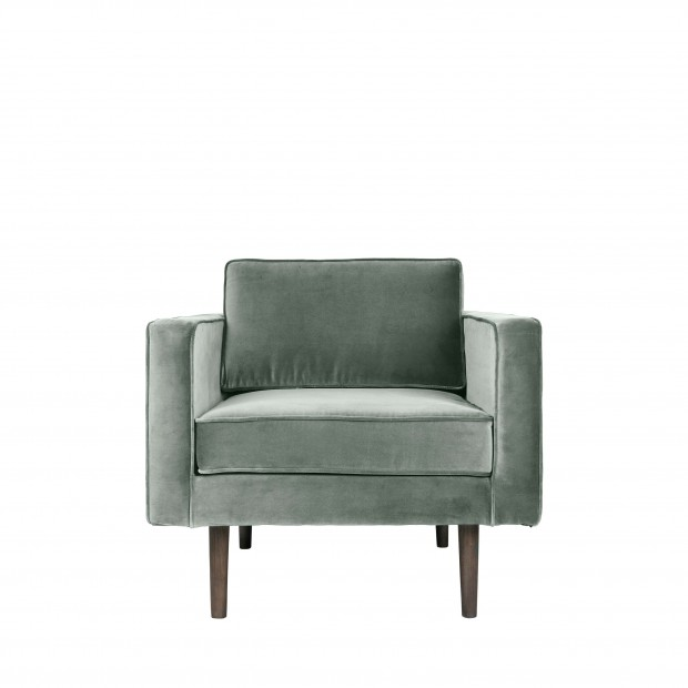 "Fauteuil Velvet ""Wind"" Chinois Green 31000044"