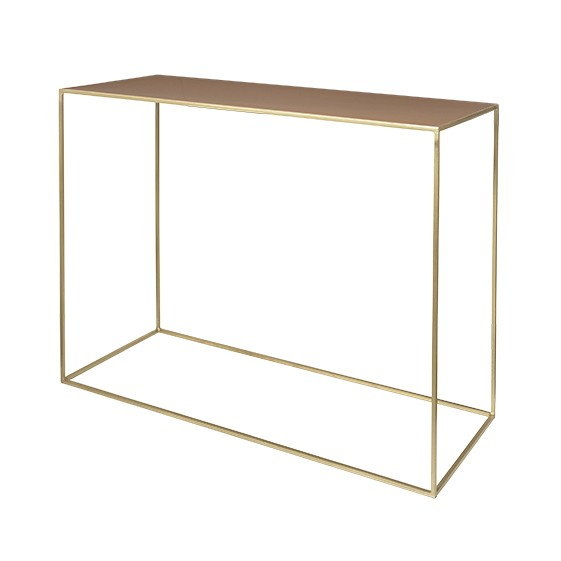 "Sidetable Metaal ""Freja"" Messing Indian Tan 71177301"