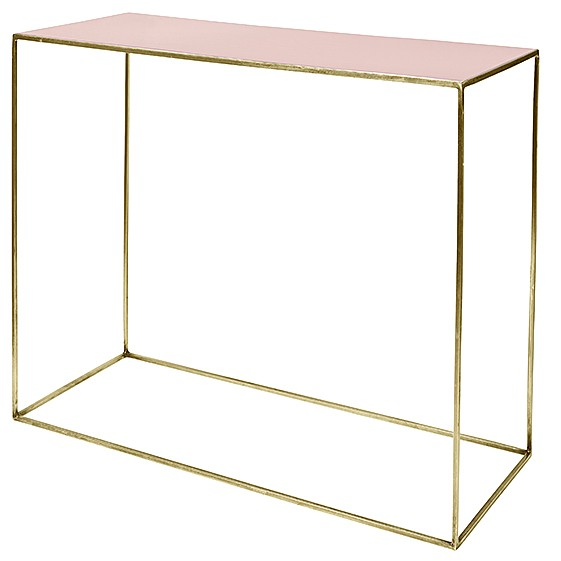 "Sidetable Metaal ""Freja"" Messing Cream Tan Roze 71123167"