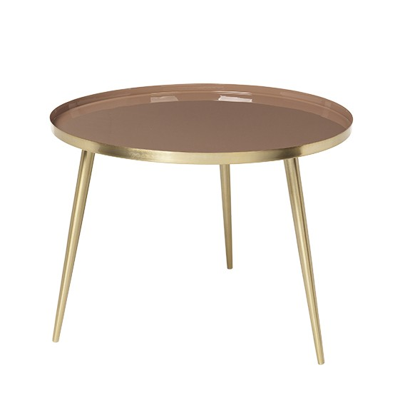 Salon Tafel Messing.Broste Copenhagen Ronde Salontafel Jelva Indian Tan