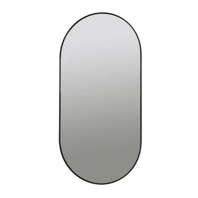 Ovale Wandspiegel Zwart Pelle