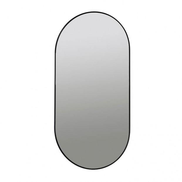 """Ovale Wandspiegel Zwart """"Pelle""""  14590904"""