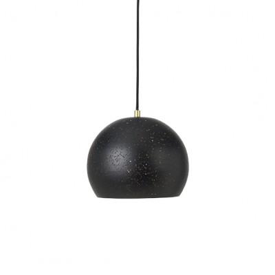 """Hanglamp Geperforeerd Staal """"Lavas"""" Zwart Messing"""
