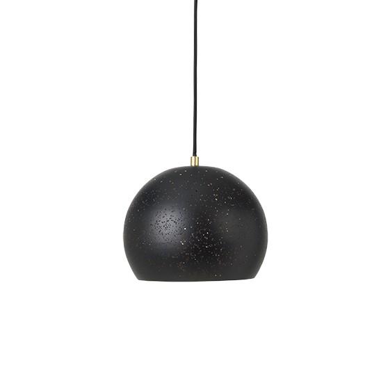 """Hanglamp Geperforeerd Staal """"Lavas"""" Zwart Messing 14461466"""