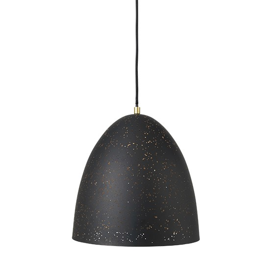 "Geperforeerde Metalen Hanglamp ""Lavas"" Zwart Messing 14461467"