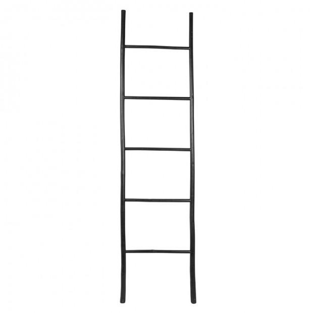 """Decoratie Ladder """"Relax"""" Bamboe Zwart 14420198 PRE-ORDER"""