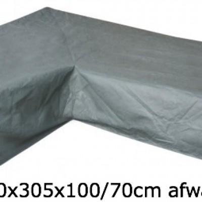 Eurotrail Hoes Voor L-vormige Loungeset 250 x 305 x 100/70 CM