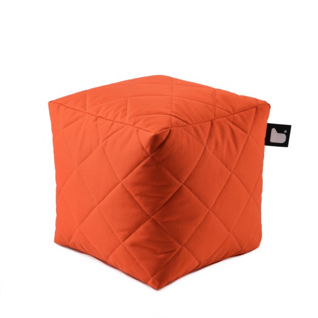 "Poef Buiten ""Quilted"" B-Box No Fade Outdoor Fabric BOXQ"