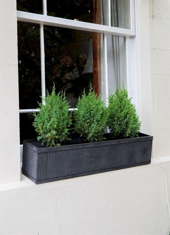 zinken plantenbak vence 90cm balkonbakken trendyard. Black Bedroom Furniture Sets. Home Design Ideas