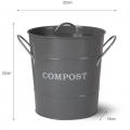 Compostemmer Donkergrijs 3,5 Liter CPBC03
