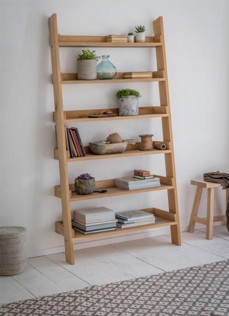 "Decoratie Ladder ""Hambledon"" Eikenhout FUOA03"