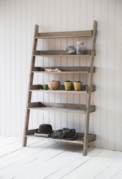 Decoratie Ladder Hout Aldsworth  AWSL02