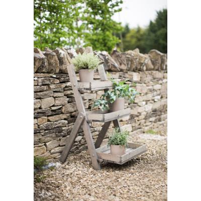 Opbergkisten oppottafels houten opbergmeubel voor buiten for Houten trap voor buiten