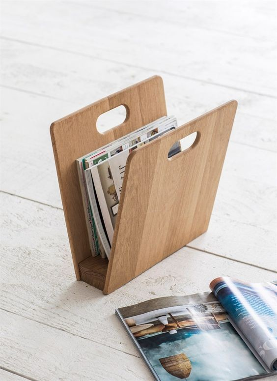 Tijdschriftenhouder hout woodstock magazinehouder for Trendy magazine rack