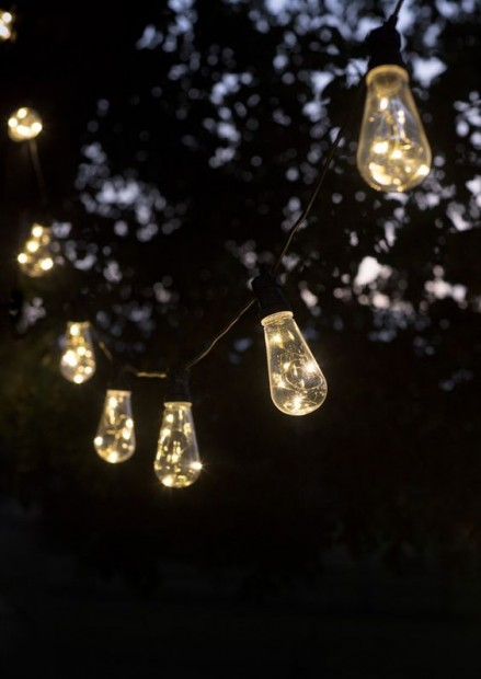 "Led Feestverlichting Buiten ""Festoon"" 10 Retro Lampen LAFE04"