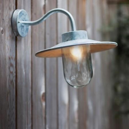 Buitenlamp Gegalvaniseerd Swan Neck Light