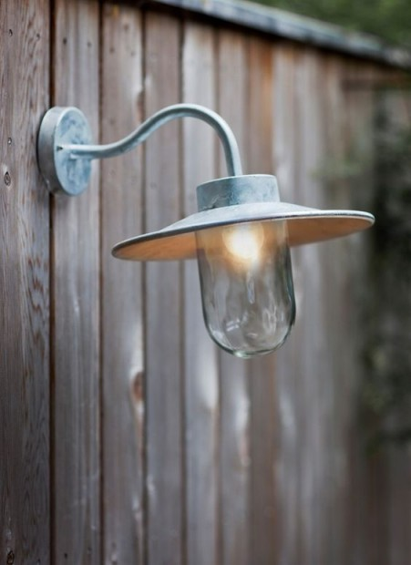 Buitenlamp Gegalvaniseerd Swan Neck Light  LAHP01
