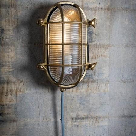 Bullseye Lamp Messing Ovaal Devonport
