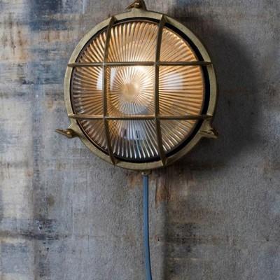 Bullseye Lamp Messing Rond Devonport
