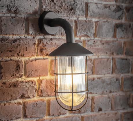 Industriele Buitenlamp Zwart Cobalt