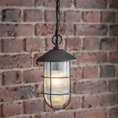Industriele Hanglamp Zwart Cobalt