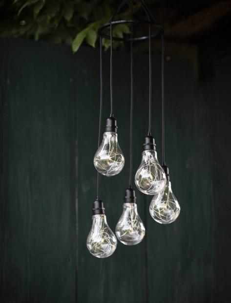 """Feestverlichting Op Batterijen """"Festoon"""" 5 Lampen LAFE06"""