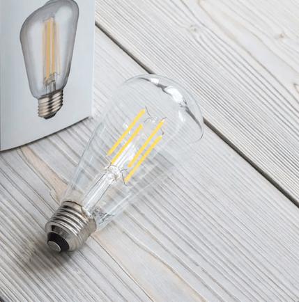 Led Gloeilamp E27 4W Warmwit 2700K LAMP20