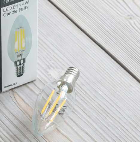 Led Kaarslamp E14 4W Warmwit 2700K LAMP25