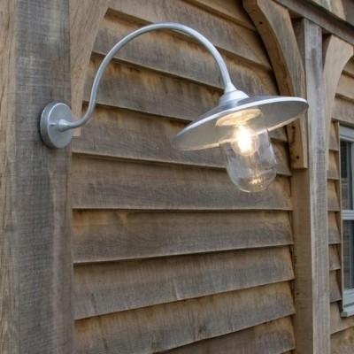 Stallamp Gegalvaniseerd Arched Swan Neck
