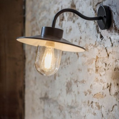 Stallamp Zwart Swan Neck Light