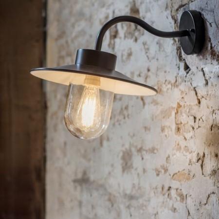 Stallamp Zwart Swan Neck Light