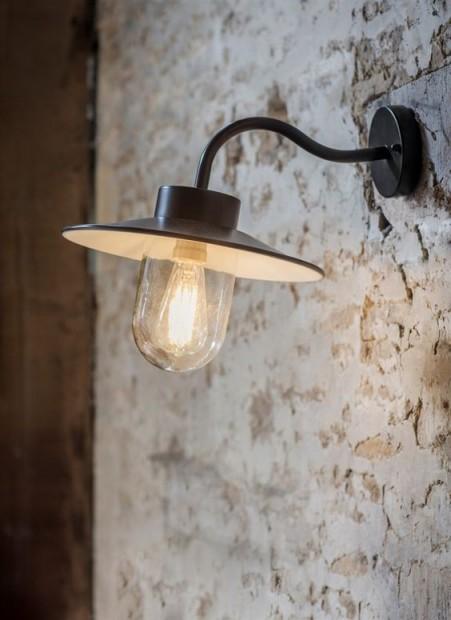 """Stallamp Zwart """"Swan Neck Light""""  LACN02"""