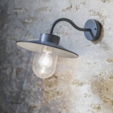 "Wandlamp Antraciet Buiten ""Swan Neck Light"""