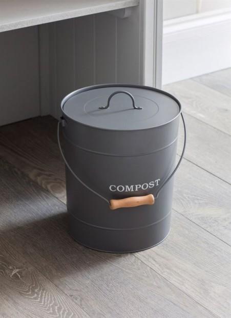 Compostemmer Donkergrijs 10 Liter CBCO02