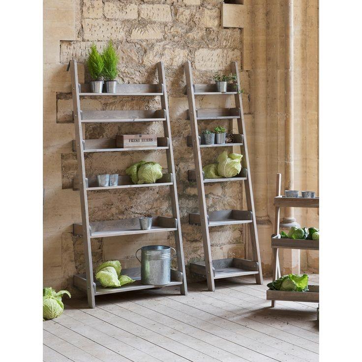 Decoratie ladder aldsworth hout wanddecoratie for Vensterbank decoratie hout