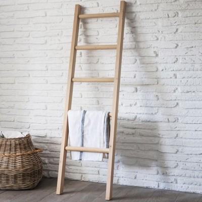 Robuuste Houten Ladder.Opbergers Van Hout
