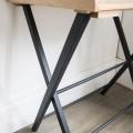 Klein Bureau Clockhouse Eiken Hout - Carbon Grijs DTCH02