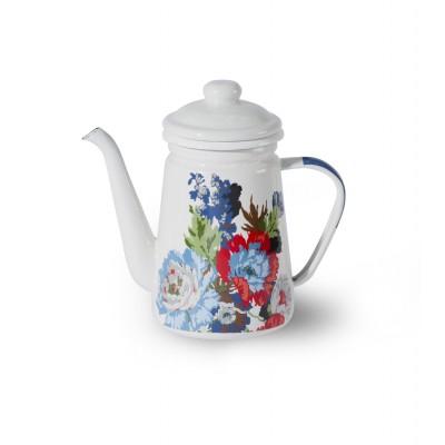 Trendyard Emaille Koffiepot Crème Floral