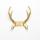 """Garden Glory Reindeer Muurbeugel """"Gold"""" Goud"""